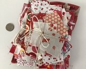 Fabric scrap bundle in Reds