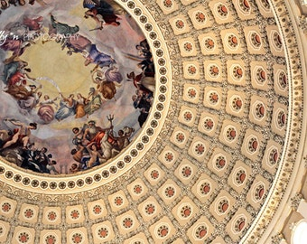 Rotunda Photo- Fresco Photography, Apotheosis of Washington, US Capital Photo, Rotunda Print, Washington DC Photo, Architecture Photo