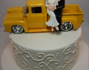 ford truck wedding cake topper auto mechanic amp groom w diecast chevy silverado dooley 14404
