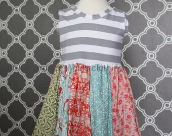 Clearance sale on remaining sizes!  Girls tank style pocket dress