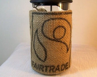 Fairtrade French Press Cozy, recycled, French Press Cozie, Insulated Coffee Pot Cozy, Bodum 8 Cup Press Pot Cosy, Hot Pot Sleeve Cozie