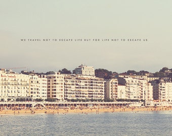 San Sebastian Art, San Sebastian Photo, San Sebastian Beach, Beach House Decor, Beach House Art, Wall Art Print, Typography Photo