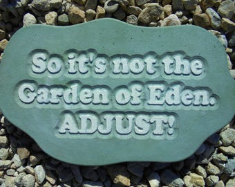 Engraved Garden Stone, Ready To Hang, Shipping Included
