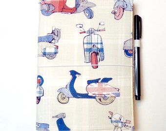 LEUCHTTURM1917 Leuchtturm 1917 cover Vespa Scooter Wide Midori Fauxdori Fabric Travelers Notebook Wide Faux Dori Moleskine Planner Cover