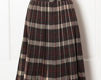 Vintage Womens Pleated Skirt plaid