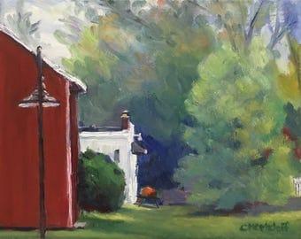 Hidden Treasures Creative Impressionist Landscape Oil Painting on Canvas