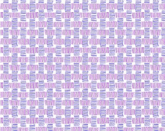 Purple and Violet Bamboo Weave from Andover Fabric's Barbados Collection - 100% Cotton