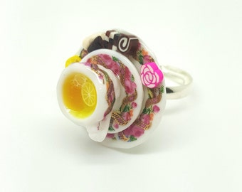 Lemon Tea Ring. Polymer Clay.