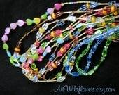 7 DeStash Glass Bead Necklaces - Beaded Jewelry De-Stash Necklace Lot for Crafts