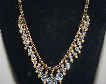 Victorian Crystal Ball Necklace