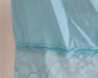 Light turquoise petticoat slip 60s