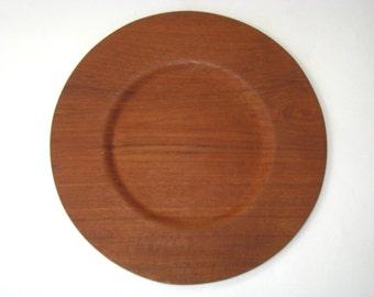 Made in Sweden Laminated Teak Wood Dinner Plate - Mid Century Danish Modern