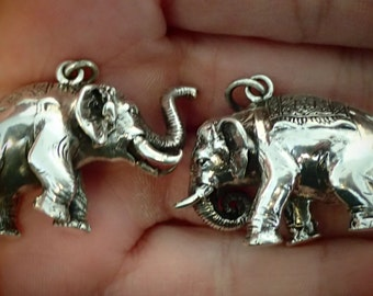 Sterling Silver Elephant  Pendant 3D  NICE!