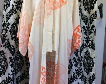 Peaches & Cream Silk Kimono