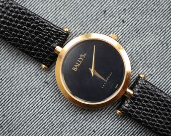 NOS Vintage Bally's quartz watch by Bulova with original strap and tags working perfectly