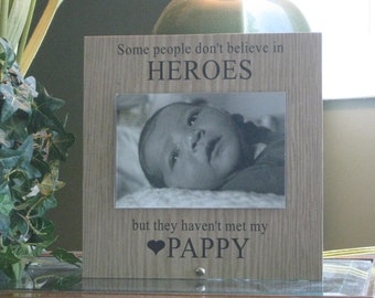Pappy Frame (SELECT ANY GRANDFATHER Name), Pappy Picture Frame, Pappy Photo Frame, 4 x 6 Photo, Saying and Paper Choice