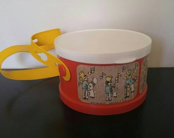Vintage Fisher Price Drum with Instruments Inside - 1979