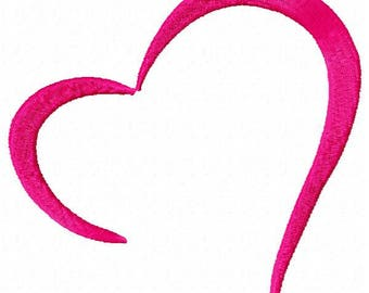 Heart Machine Embroidery Design - Instant Download