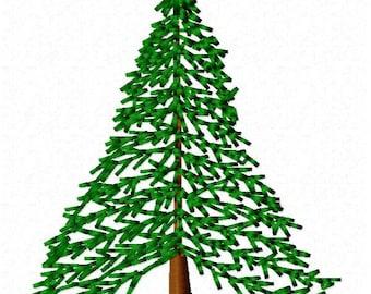 Hemlock Tree Machine Embroidery Design - Instant Download