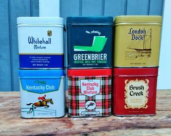 Vintage Tobacco Tin - Collectible Tins - Kentucky Club