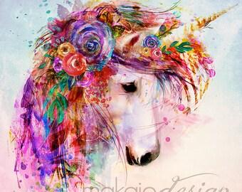 Colorful unicorn | Etsy
