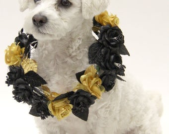 Dog Flower Crown | Puppy Flower Collar | Dog Wedding Attire | Dog of Honor | Hipster Doggie Chain
