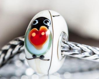 Small Core Lovechirp Bird Artisan Bead SRA Lampwork Beads BHB