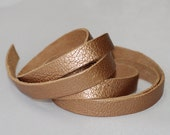 7-10mm  Genuine Leather Strap,  Pale Copper Leather Lace, Soft  Sheepskin