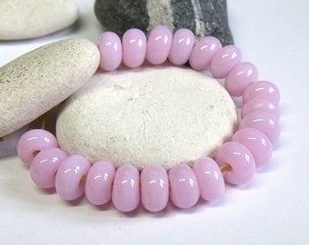 Jelly Pink, Lampwork Spacer Beads, SRA, UK