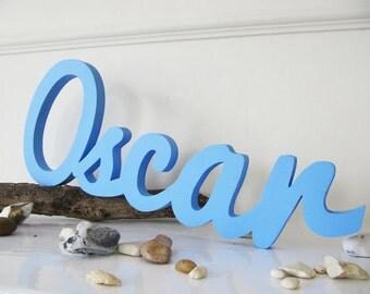 Oscar, Wooden Handmade boy Girl Name Wall Hanging Decor Signs, Personalized Birthday Gift, Kids Room Decor, Nursery