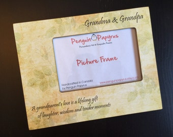 SaLe!! ReAdY TO SHiP! Grandparents Gift Grandma Gift Grandpa Gift For Grandma Grandpa Gift Wood 4x6 Picture Frame 4x6 Keepsake Frame