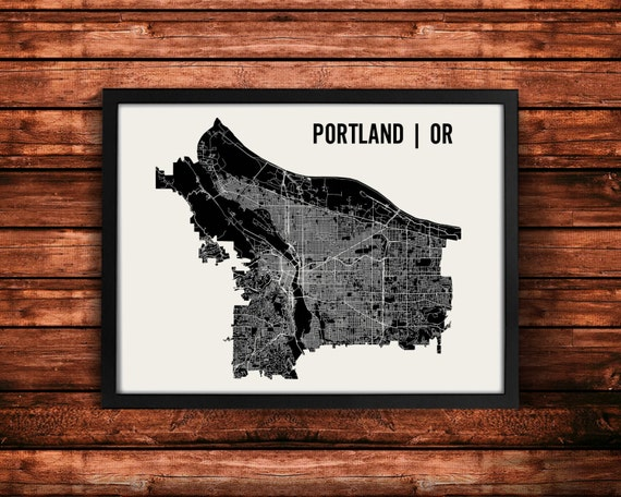 Portland Map Art Print | Portland Print | Portland Art Print | Portland Poster | Portland Gift | Wall Art