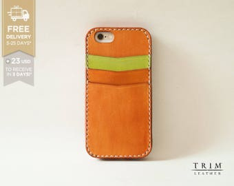 iPhone 6s Case, iPhone 6s Plus Case, iPhone 6 Case, iPhone 6 Plus Leather Card Case Bumper Cover [FREE SHIPPING] [Handmade] [Custom Colors]