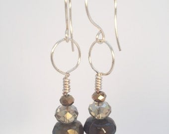 Comtemporary Stacked Bead Earrings, Elegant Jewelry, Conteporary Jewelry