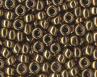 6/0 Seed Beads Miyuki Met Golden Bronze Glass beads