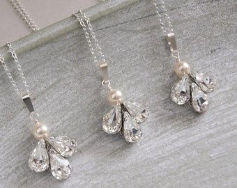Angel Diamante Bridesmaids Necklace