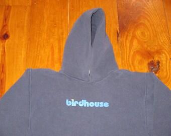 Rare Vintage 1990s Skateboard Rave Birdhouse Hooded Sweatshirt
