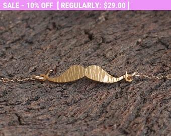 SALE!!! Gold Mustache Bracelet , Mustache Jewelry, Adjustable Mustache Bracelet , Hipster Jewelry