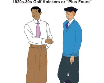 "RH1325 — 1920s-30s Knickerbockers or ""Plus Fours"""