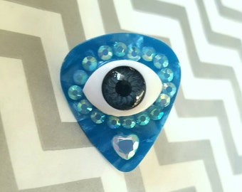 OOAK All-Seeing Eye Brooch