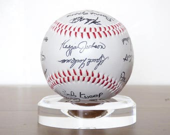 1980s California Angels Team Signed Auto Baseball Facsimilie Pre-Printed