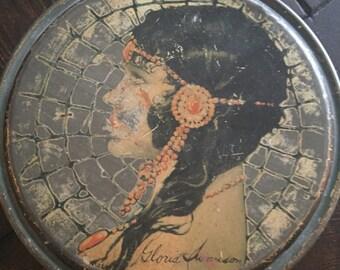 Gloria Swanson 1920s tin collectable vintage silent film era candy tin