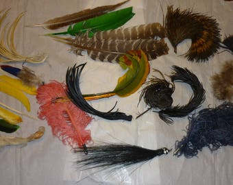 Antique Ostrich Feather Collection...Victorian Era..Good Condition..Dolls..Hats..Free Shipping