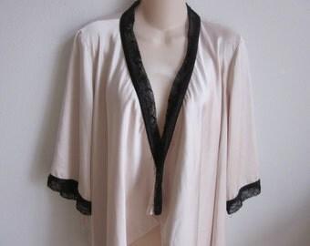 Short robe wrap kimono jacket sexy lingerie girlie S M