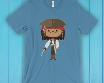 Pirate T-Shirt, Unisex Graphic T Shirt, Women's T Shirt, Men's T Shirt, available in 20 colors - Film T-shirt, Movie T-shirt