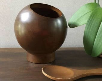Hellerware Sphere Wooden Nut Bowl and Spoon