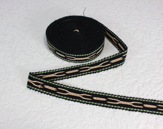 Woven Trim (6 yards), Woven Border, Cotton Ribbon, Grosgrain Ribbon, Dress Border, Border Trim, R181