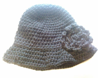 Black Cloche Hat - Ready to Ship