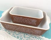 Pyrex Woodlawn - Casserole & Mini Loaf Pan - Oven Proof - Microwave Safe - Entertaining - replace pieces or Hostess Gift!