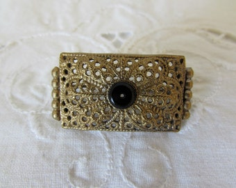 Superb  French gilt filigree scarf pin or brooch